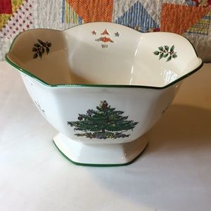 Spode Pierced Footed Hexagonal Bowl in Orig Box